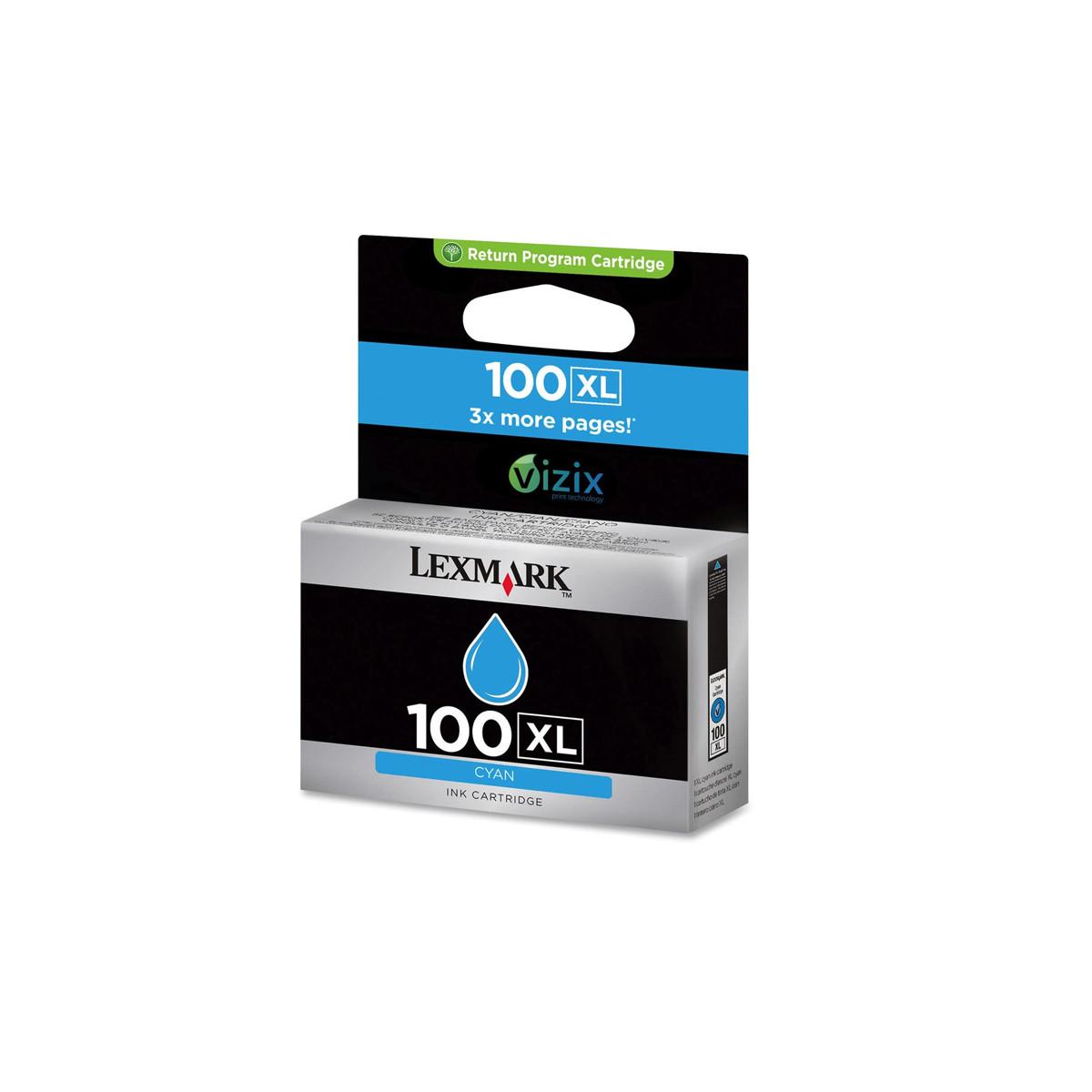 Cartucho de Tinta Lexmark 100XL 14N1069 Ciano | 901 705 905 205 709 209 S815 | Original 10,6ml