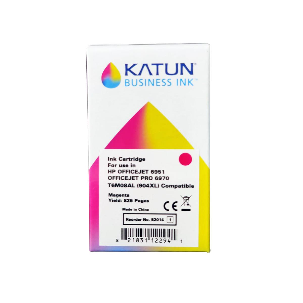Cartucho de Tinta Compatível com HP 904XL T6M08AL Magenta | Officejet Pro 6970 | katun Business Ink