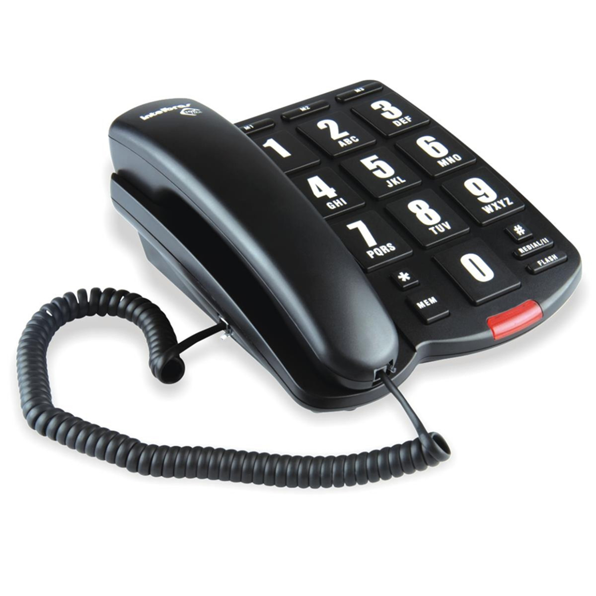 Telefone com Fio Intelbras Tok Fácil com Teclas Grandes | Preto