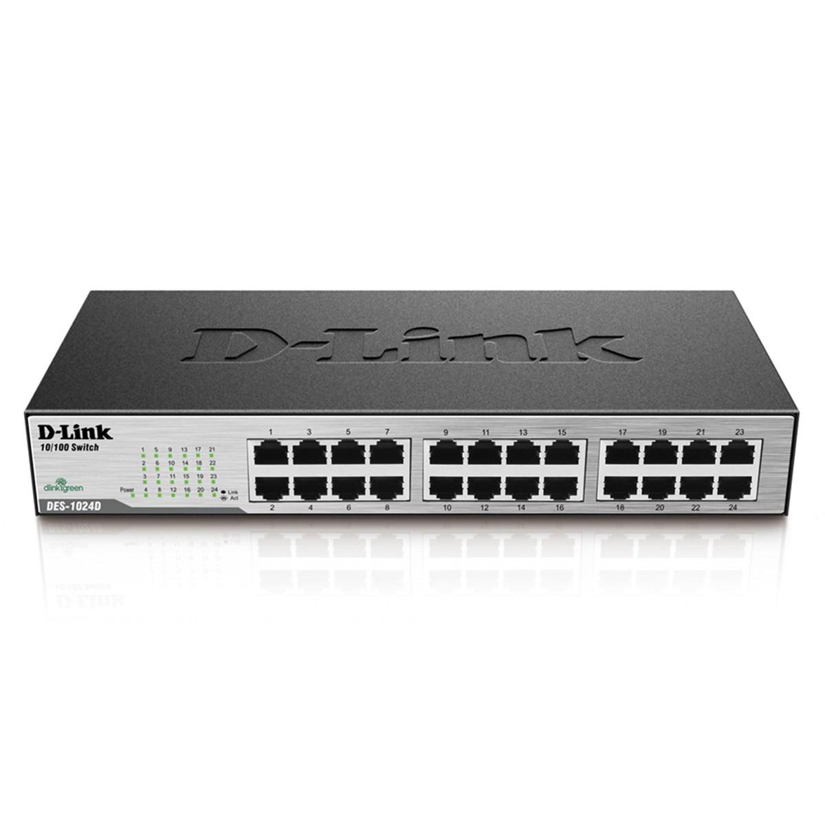 Switch D-LINK DES-1024D 10/100mbps com 24 Portas