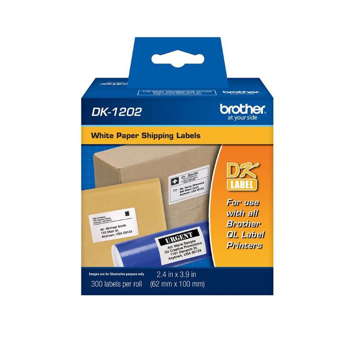 Etiqueta Contínua Brother DK1202 DK-1202 | QL-570 QL-580 QL-550 QL-700 QL-720NW | 62mm x 100mm