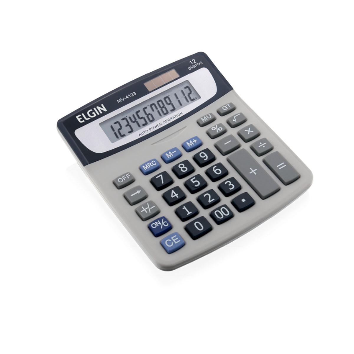 Calculadora de Mesa Elgin MV4123 | Prata