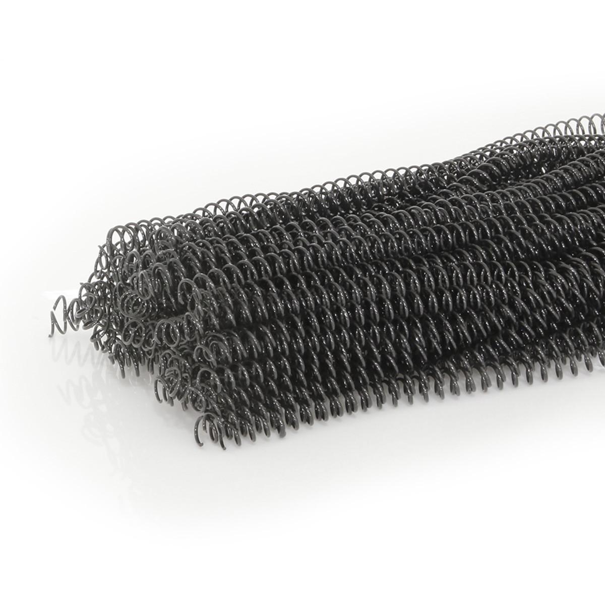 Espiral para Encadernação Preto   Tamanho Ofício 09mm para 50 folhas   Pacote com 100 Unidades