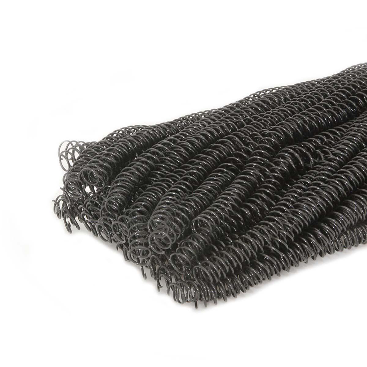 Espiral para Encadernação Preto   Tamanho Ofício 20mm para 120 folhas   Pacote com 70 Unidades