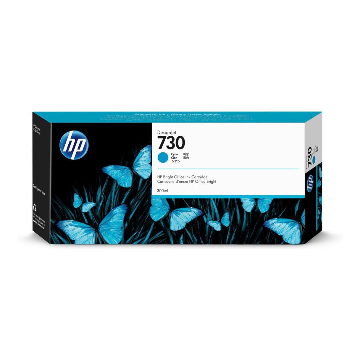 Cartucho de Tinta HP 730 Ciano P2V68A | Plotter HP T1600 T1700 | Original 300ml