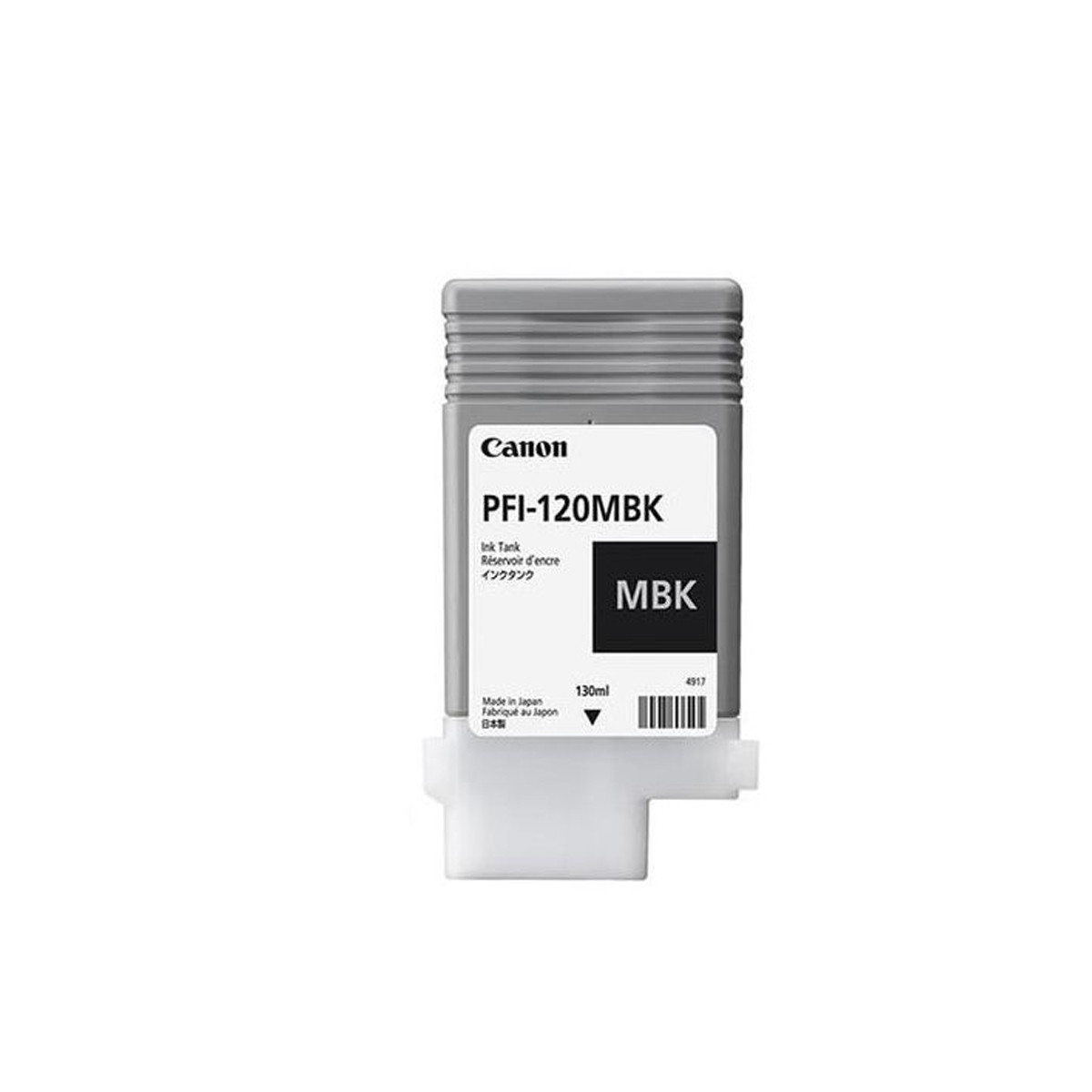 Cartucho de Tinta Canon PFI-120 PFI-120MBK Preto Fosco   TM200   Original 130ml
