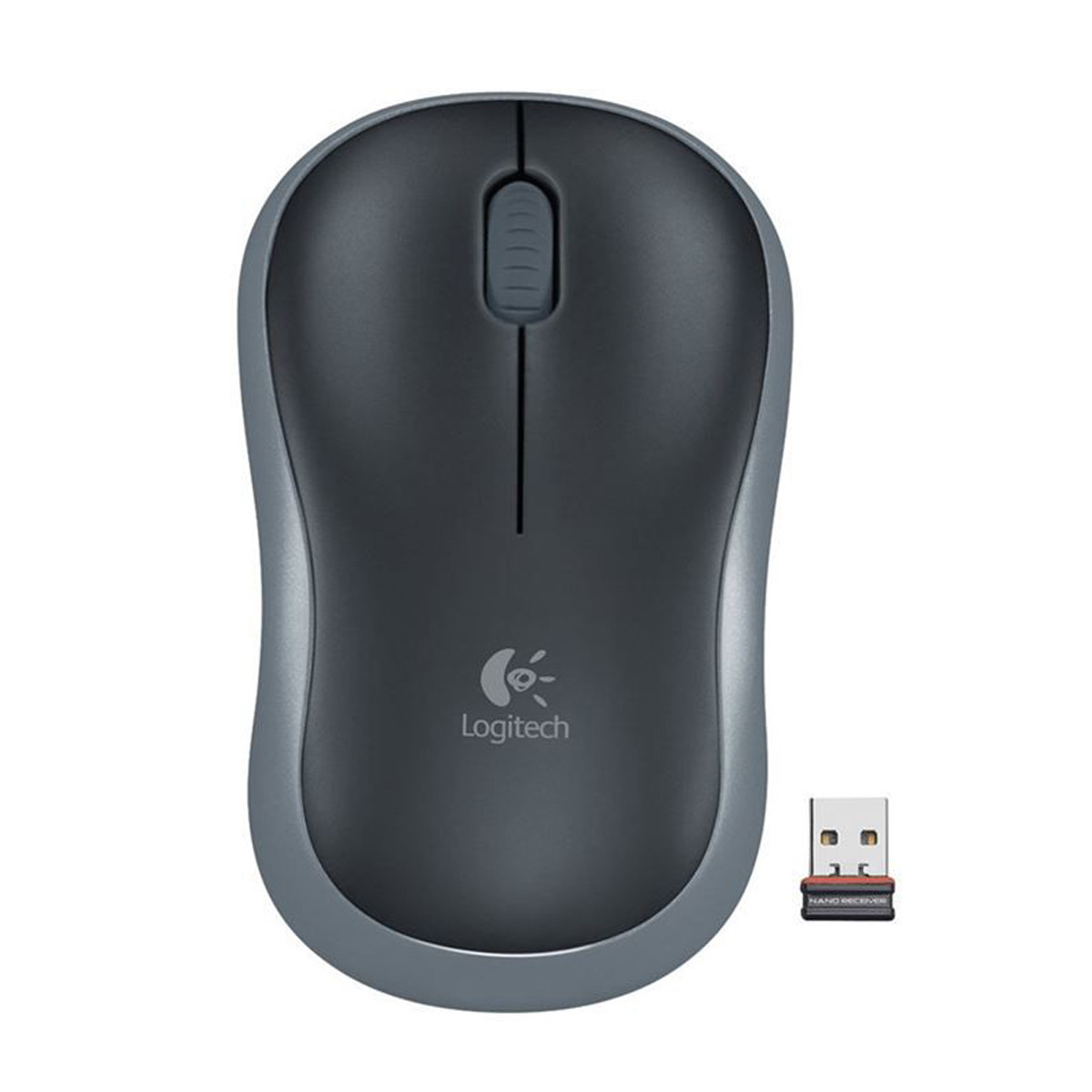 Mouse Wireless Sem Fio Mini USB Óptico Logitech M185 910-003243 | Cinza