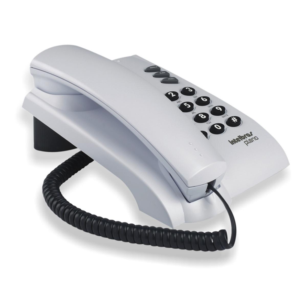 Telefone com Fio Intelbras Pleno | Cinza Ártico