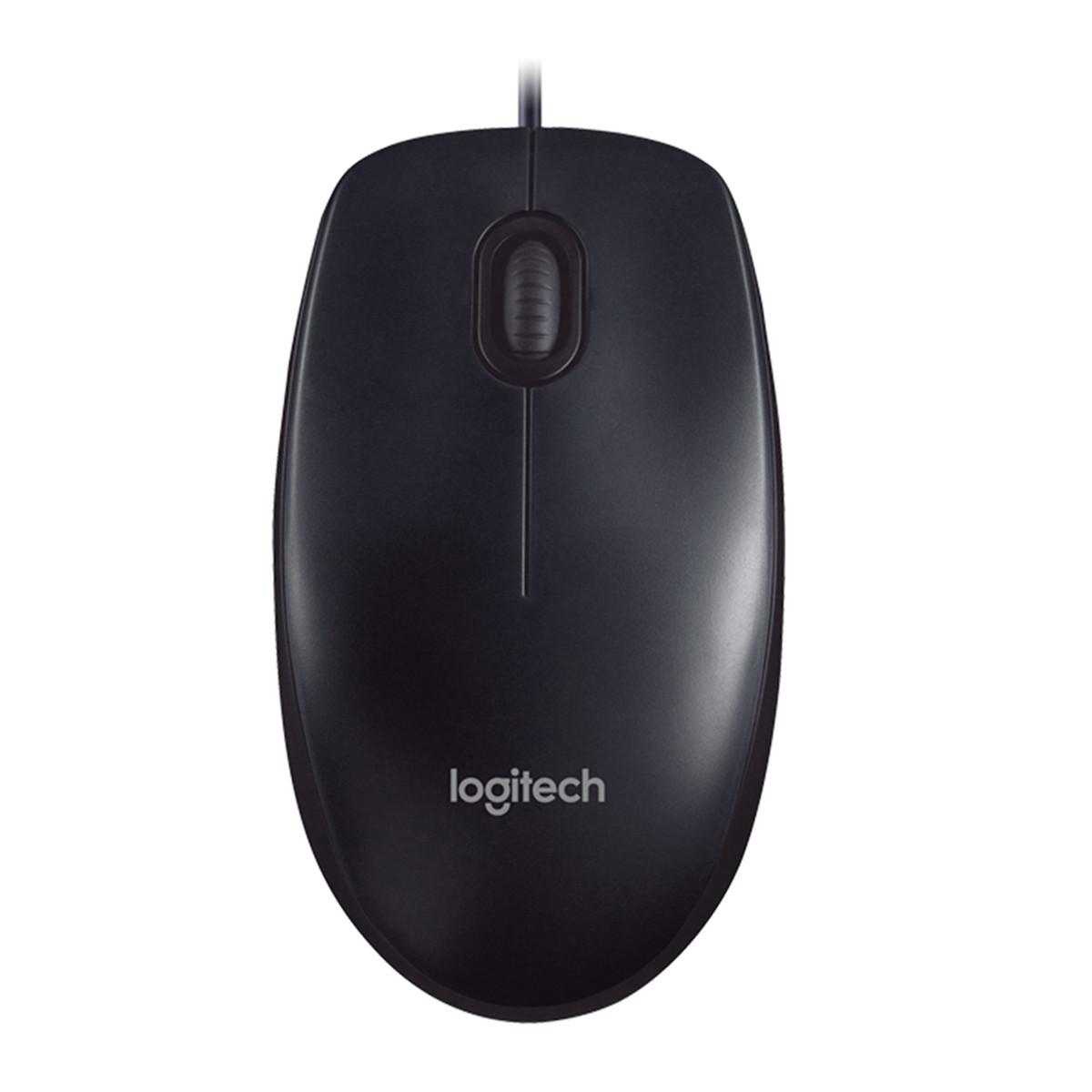 Mouse Óptico Com Fio USB Logitech M90 910-004053 | Preto