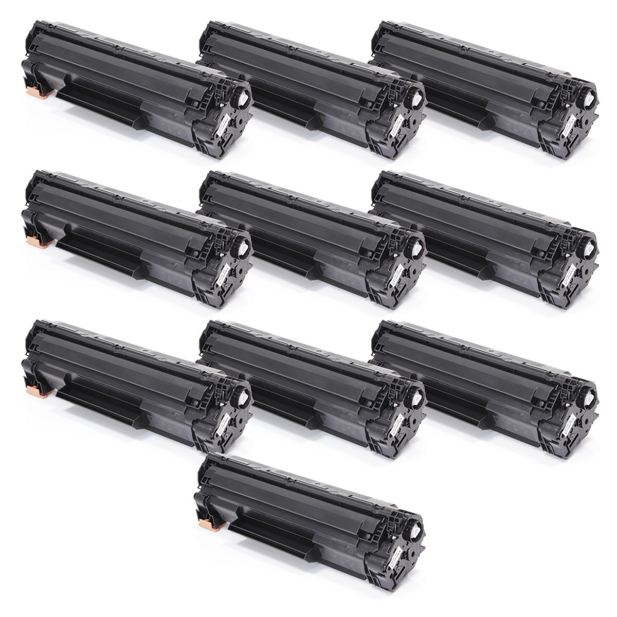 Kit 10 Toner Compatível com HP P1505 M1120 M1132 P1102 | 85A 36A 35A Universal Premium 1.8k