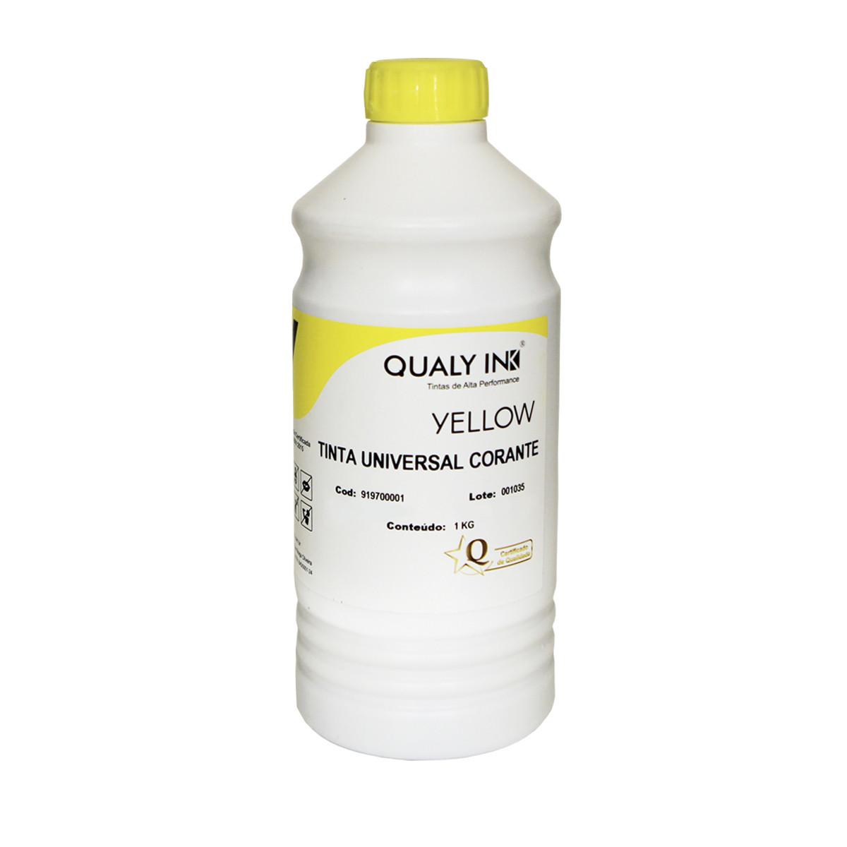 Tinta Canon Universal Amarelo Corante 919700001   Qualy Ink 1kg