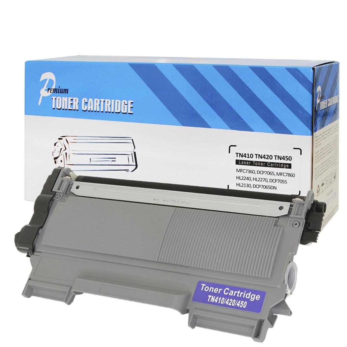 Toner Compatível Brother TN410   HL2130 HL2240 HL2230 DCP7055 MFC7360N MFC7460DN   Premium 2.6k