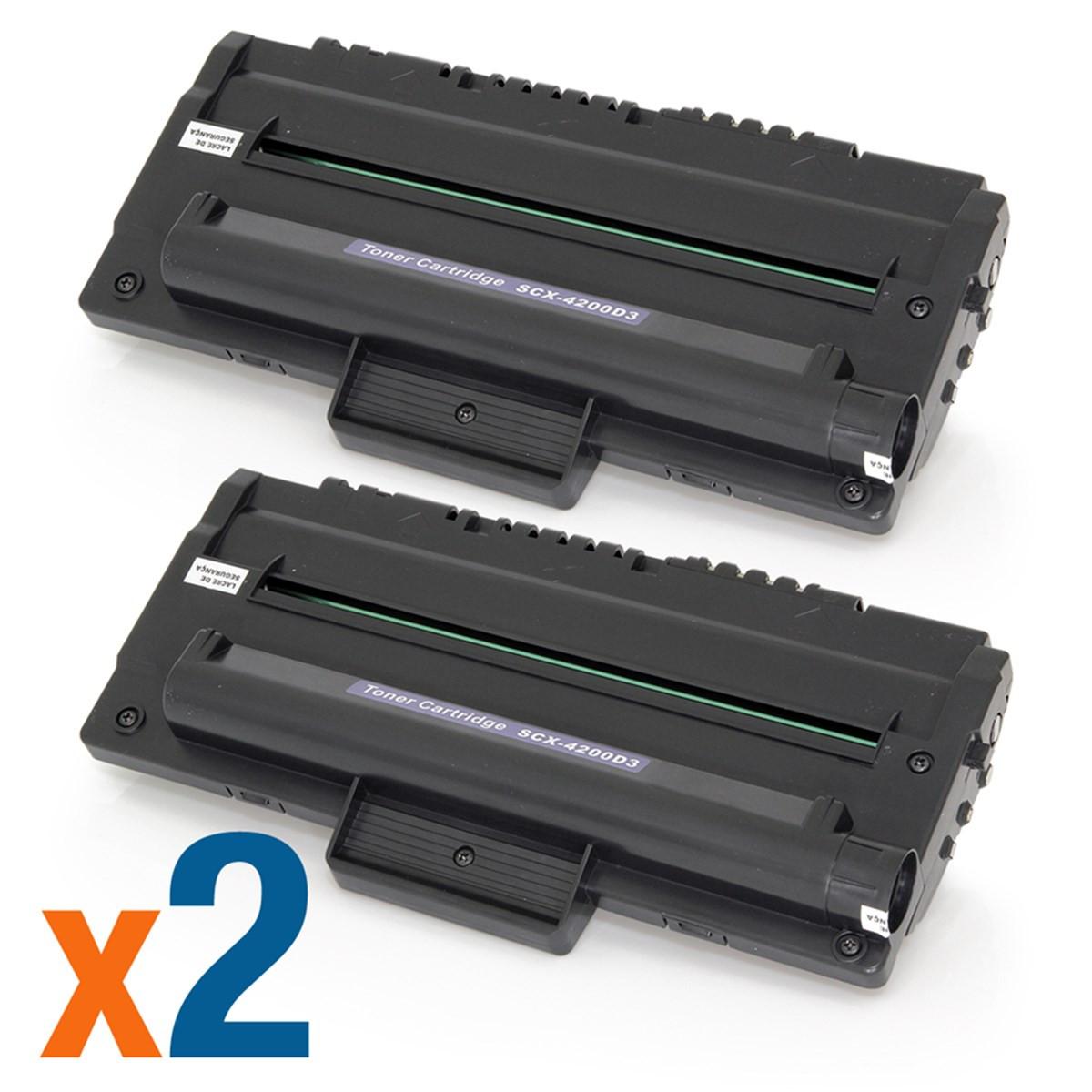 Kit 2 Toner Compatível com Samsung SCX-D4200D3 SCX-D4200A | SCX4200 SCX4220 Premium 3k