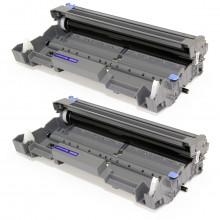 Kit 2 Cartuchos de Cilindro Brother DR620 DR 620 para TN650 TN 650 8080 8085   Compatível Premium