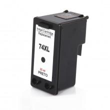Cartucho de Tinta Compatível com HP 74XL CB336WB Preto | Photosmart C4480 C4280 C5280 | 25ml