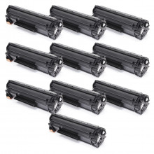 Kit 10 Toner Compatível com HP CB436A CB436AB | P1505 P1505N M1522 M1522N M1522NF | Premium 1.8k