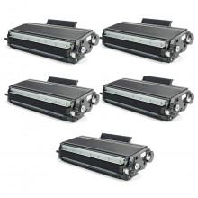 Kit 5 Toner Compatível com Brother TN650 | HL5340D HL5370DW HL5380D MFC8480DN DCP8080 | Premium 7k