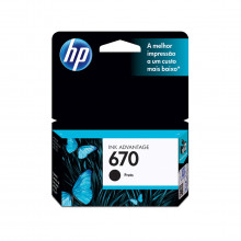 Cartucho de Tinta HP 670 CZ113AB | Preto | Original HP | 7,5 ml