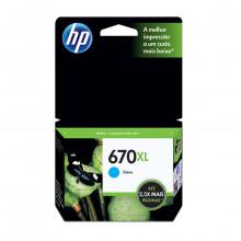 Cartucho de Tinta HP 670XL CZ118AB Ciano | Original HP | 7,5 ml