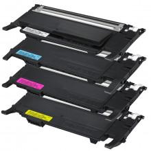 Kit 4 Toner Compatível com Samsung CLT-K407S CLT-C407S CLT-M407S CLT-Y407S | CLP320 CLP325 | Premium