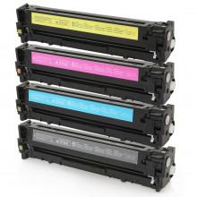 Kit 4 Toner Compatível com HP CF210A CF211A CF212A CF213A | Pro-200 M251NW M251N M251 M276 | Premium