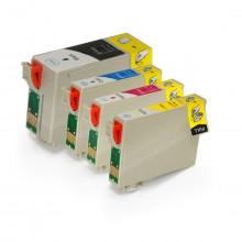 Kit 4 Cartucho de Tinta Epson | T140120 T140220 T140320 T140420 | Compatível
