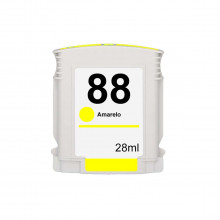 Cartucho de Tinta Compatível com HP 88 88XL Amarelo C9393A C9393AL C9393AE | K550 K8600 K5400 28ml