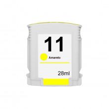 Cartucho de Tinta Compatível com HP 11 C4838A Amarelo   2200 Série 2280 Série 2300 Série 2600