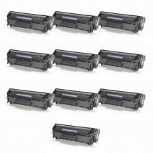 Kit 10 Toner Compatível com HP Q2612A 2612A 12A | 1010 1012 1015 1018 1020 1022 3015 | Premium 2k