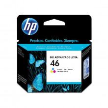 Cartucho de Tinta HP 46 CZ638AL CZ638AB Colorido Deskjet Ink Advantage 2529 4729 5738 Original 16ml