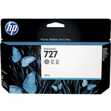 Cartucho de Tinta para Plotter HP 727 B3P24A Cinza | Designjet T1500 T920 | Original 130ml