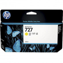 Cartucho de Tinta para Plotter HP 727 B3P21A Amarelo | Designjet T1500 T920 | Original 130ml