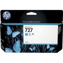 Cartucho de Tinta para Plotter HP 727 B3P19A Ciano | Designjet T1500 T920 | Original 130ml