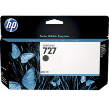 Cartucho de Tinta para Plotter HP 727 C1Q12A Preto Fosco | T2500 T1500 T920 T1530 | Original 300ml