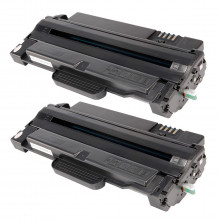 Kit 2 Toner Compatível com Samsung MLT-D105S ML1910 ML1915 ML2525 ML2580 SCX4600 SCX4623 CF650 650P