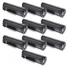 Kit com 10 Toner Compatível com HP CE285A 85A 285A CE285AB   P1102 M1132 M1210 M1212 M1130   1.8k