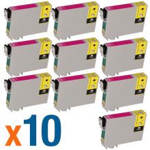 Kit 10 Cartucho de Tinta Epson T063320 T0633 T063 Magenta | CX3700 C67 CX7700 C87 | Compatível 12 ml