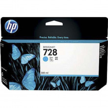 Cartucho de Tinta HP 728 Ciano F9K17A | Plotter HP Designjet T730 T630 | Original 300ml