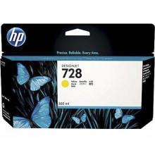 Cartucho de Tinta HP 728 Amarelo F9K15A | Plotter HP Designjet T730 T830 | Original 300ml