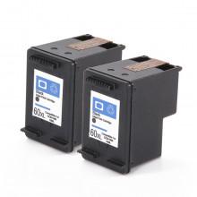 Kit 2 Cartucho de Tinta Compatível com HP 60XL 60 Preto CC641WB C4680 C4780 D1660 F4280 F4580 F4480