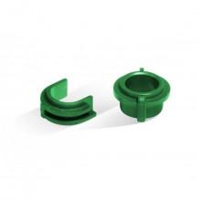 Par de Buchas do Rolo Pressão HP P3005 M3027 M3035 3005 3027 3035 Verde | RC1-3609 | Importado