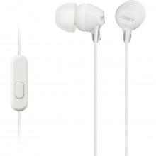 Fone de Ouvido com Microfone Headphone MDR-EX15AP Intra-Auricular Branco | Sony