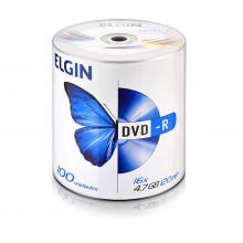 DVD-R Elgin Bulk com 100 Unidades 82050   Capacidade de 4,7GB ou 120MIN e Velocidade de 16x