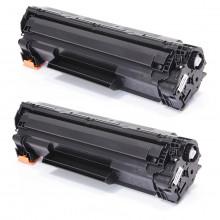 Kit com 2 Toner Compatível com HP CB435A 35A 435A CB435AB | LaserJet P1005 P1006 | Premium 1.8k