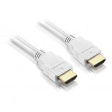 Cabo HDMI 1m e 80cm de comprimento Versão 1.4 Conector PVC | Branco Elgin