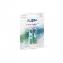 Pilhas Alcalinas Energy AA 1.5V | 2 Unidades | Elgin