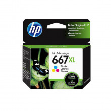 Cartucho de Tinta HP 667XL Color 3YM80L 3YM80AL | Deskjet Ink Advantage 2776 | Original