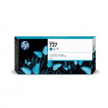 Cartucho de Tinta para Plotter HP 727 F9J76A Ciano | Designjet T1500 T920 T930 | Original 300ml