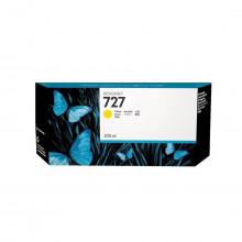 Cartucho de Tinta para Plotter HP 727 F9J78A Amarelo | Designjet T1500 T920 T930 | Original 300ml