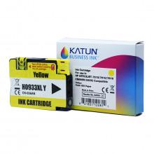 Cartucho de Tinta Compatível com HP 933XL Amarelo CN056AN | Officejet 7110 7612 | Katun Business Ink